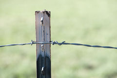 Macro view rusted farm fence Royalty Free Stock Photos
