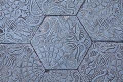 Macro view of sidewalk stones in Barcelona, Spain Royalty Free Stock Image