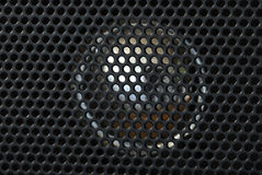 Macro view of the speaker from a radio Stock Photography