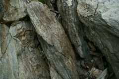 Macro view of stones. Stones that are broken for the action of extreme climate of the mountains Stock Image