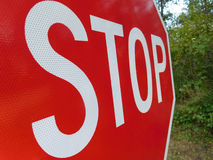 Macro View of a Stop Sign royalty free stock photo