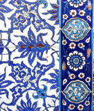 Macro view of tiles in Rustem Pasa Mosque, Istanbul Stock Photography