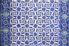 Macro view of tiles in Rustem Pasa Mosque, Istanbul Royalty Free Stock Photography