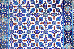Macro view of tiles in Rustem Pasa Mosque, Istanbul stock photo