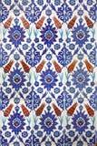 Macro view of tiles in Rustem Pasa Mosque, Istanbul Stock Photos