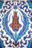 Macro view of tiles in Rustem Pasa Mosque, Istanbul Royalty Free Stock Images