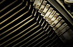 Macro view of type characters of typewriter Stock Photography