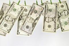 Macro view of US dollars Stock Images
