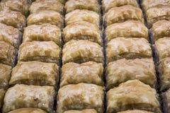 Macro vista di baklava da cucina turca immagine stock