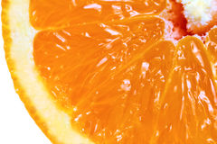 macro vue découpée en tranches orange de fruit détaillé Photographie stock