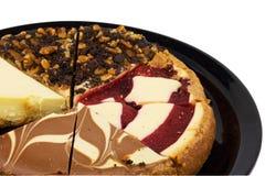 Macro vue d'un échantillonneur de gâteau au fromage Photo stock