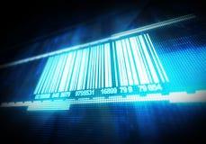 Macro vue de code barres Photos libres de droits