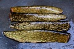 Macro vue de la peau sur un poisson de cric Images stock