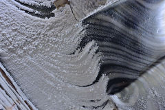 Macro wall salt  inside of mine Royalty Free Stock Image