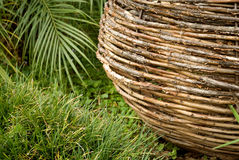 Macro of a wicker basket base Royalty Free Stock Photo