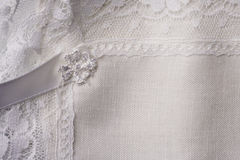 Macro witte linnenachtergrond Royalty-vrije Stock Foto's