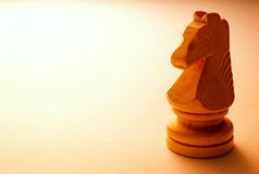 Macro Wooden Horse Chess Piece Royalty Free Stock Photo