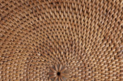 Macro of woven Thai mat. Detail of a brown cane woven placemat from Thailand.  Natural background Stock Photos