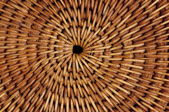 Macro of woven Thai mat. Detail of a brown cane woven placemat from Thailand.  Natural background Stock Photography