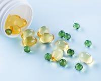 Oil capsule Stock Photo
