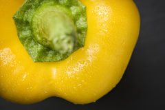 Macro of a yellow paprika. Royalty Free Stock Images