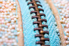 Macro Zipper close-up Stock Image