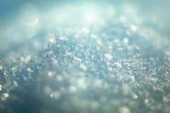 Macroachtergrond van verse sneeuwvlok Royalty-vrije Stock Afbeelding