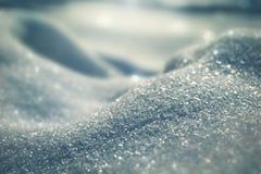 Macroachtergrond van verse sneeuwvlok Stock Foto