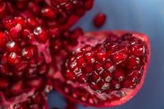 Macrobeeld van fruitgranaatappel Zachte nadruk Gezond concept royalty-vrije stock foto
