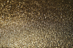 Macrobeeld van gouden glas Royalty-vrije Stock Foto's