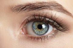 Macrobeeld van menselijk oog royalty-vrije stock fotografie