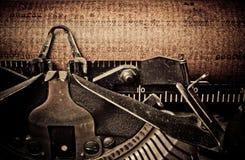 Macrobeeld van oude schrijfmachines Stock Afbeeldingen