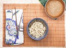 Macrobiotic brown rice Royalty Free Stock Photo