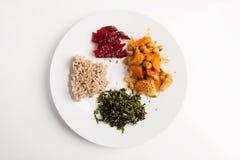Macrobiotic plate Stock Photos