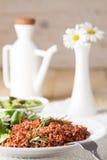 Macrobiotic vegetarian meal Royalty Free Stock Photo
