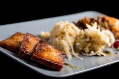 Macrobiotische lunch stock afbeeldingen