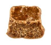 Macroclose-up van smakelijke chocoladezachte toffee Stock Afbeeldingen