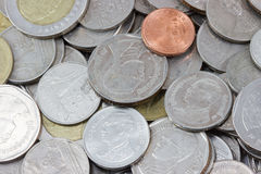 MacroCoins. The Macro coins of thailand Stock Photography