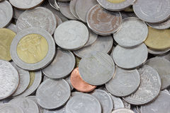MacroCoins. The Macro coins of thailand Royalty Free Stock Photo