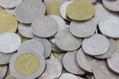MacroCoins. The Macro coins of thailand Royalty Free Stock Images