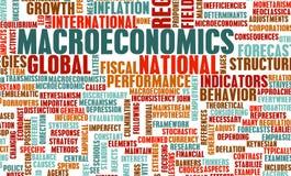 Macroeconomics. Or Macro Economics as a Concept Royalty Free Stock Photos