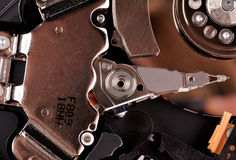 Macrofoto - Harde schijfaandrijving Grote details Royalty-vrije Stock Fotografie
