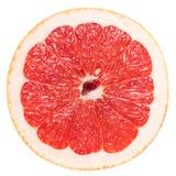 Macrofoto van een Roze Grapefruit royalty-vrije stock afbeelding