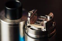 Macrofoto van elektronische sigaret Stock Fotografie