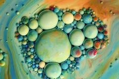 Macrofotografia delle bolle variopinte XIX fotografia stock libera da diritti