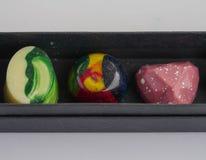 Macrofotografie - gedetailleerd met de hand gemaakt suikergoed royalty-vrije stock foto's