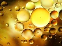 Macrokunstwater en olie royalty-vrije stock afbeelding