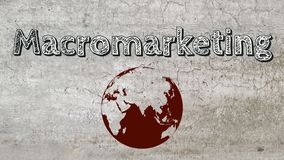 Macromarketing image libre de droits
