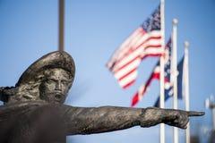 Macromening van het Standbeeld van D ` Artagnan - Xavier University - Cincinnati, Ohio stock foto's