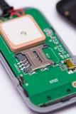 Macromening van SIM-kaartplaats voor tussenvoegsel Stock Afbeeldingen